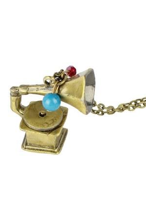 LOVE GRAMOPHONE VINTAGE NECKLACE necklace