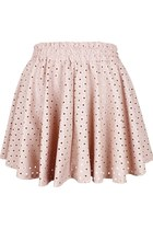 Heart over Beauty PU leather Skirt (Pink)