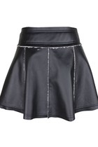Patches of Love PU Leather Skirt