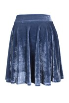 VELVET TRIUMPH SKIRT (GREY)