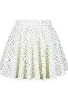 Heart over Beauty PU leather Skirt (White)