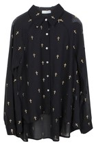 CROSS IN TRENDS ASYMMETRICAL CHIFFON SHIRT