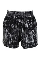 Zip Up Glided Shorts (Black)