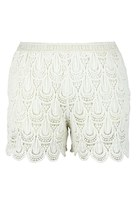 Feathers of Wishes Crochet Shorts (Cream)