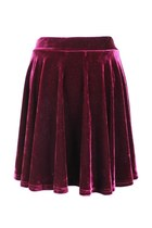 VELVET TRIUMPH SKIRT (WINE)