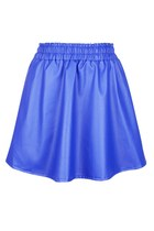 PU Leather Skirt (Navy Blue)