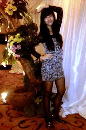 Orange dress - Debenhams tights - Model talk heels