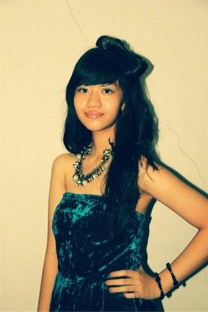 blue diamond dress - white Pink street necklace - blue Dorothy Perkins bracelet