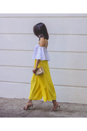 Zara pants - unknown bag - asos sandals - David Yurman ring - Zara top