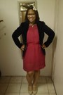 Pink-sheer-h-m-dress-black-velvet-old-navy-blazer