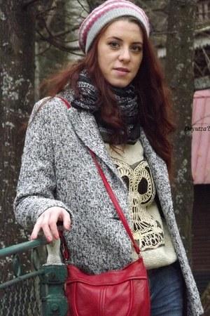 Sheinside coat - Sheinside jeans - OASAP scarf - OASAP sneakers
