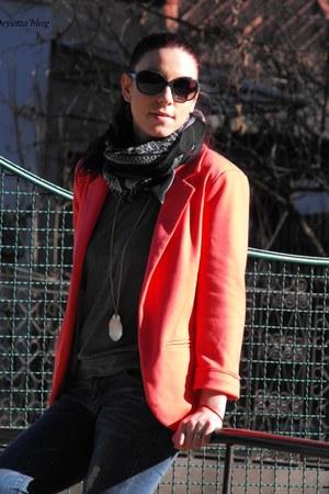 Sheinside blazer - AmiClubWear bag - Rosewholesale blouse