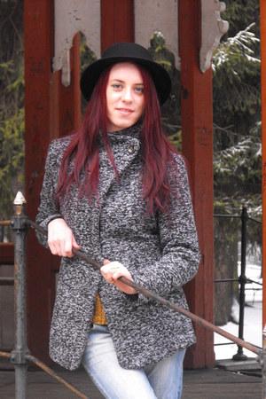 Lovelywholesale boots - OASAP coat - zaful gloves - Sheinside blouse