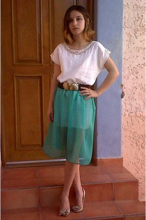 chiffon Bea Villasuso Me skirt - vintage blouse