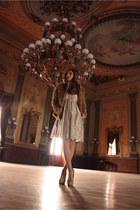ivory Express dress - neutral Steve Madden heels - tawny H&M coat - aquamarine C