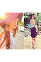H&M hat - Topshop top - H&M belt - vintage pants - Primark bracelet