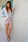 Blazer-zara-shorts-apple-necklace-miss-selfridges-top-bracelet