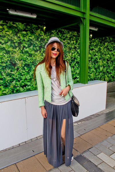 Zara skirt - hat - Zara blazer - Boyy bag - rayban glasses - Himma top