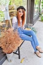 denim jumper - shoes - hat - workshop sunglasses - Michael Kors watch