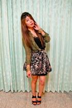 H&M shirt - Primark skirt - necklace - top - Geox wedges - bracelet