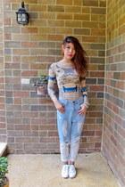 glitter bracelet - ombre denim Above one station jeans - Chloe sunglasses