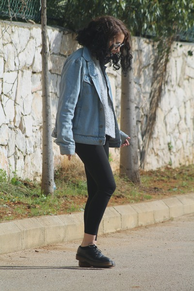 sky blue denim American Apparel jacket