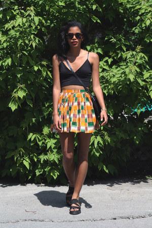 light orange American Apparel skirt