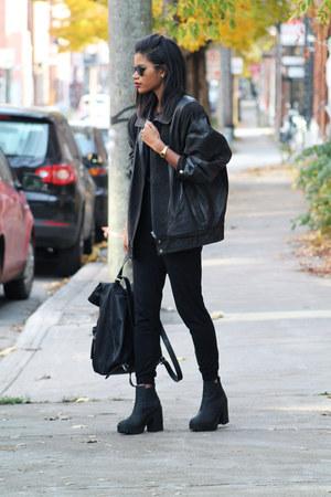 black jumpsuit Topshop bodysuit