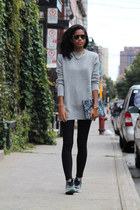 silver Zara sweater