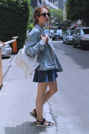 light blue jeans American Apparel jacket