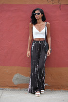 ivory cropped Missguided top