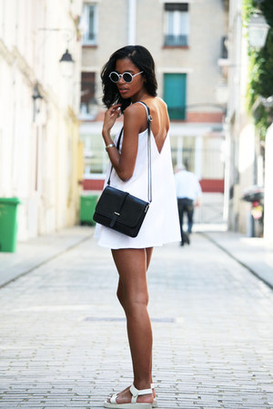 white playsuit Missguided dress