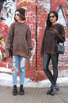 bronze wool thrifted vintage jumper