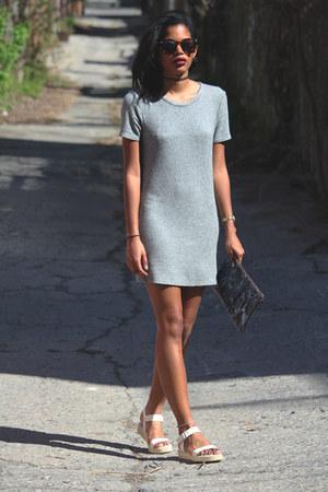 silver brandy melville dress