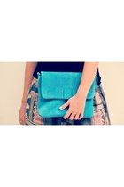 turquoise blue elf bag