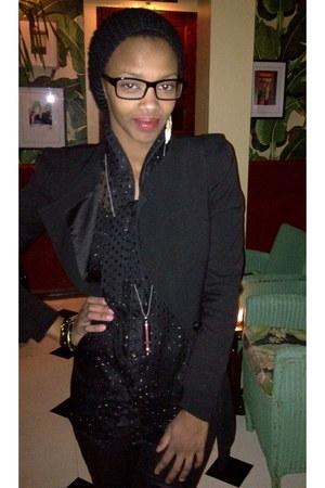 Zara blazer - DKNY shirt - Falling Whistle necklace