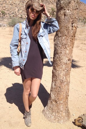asos jacket - new look boots - H&M dress - cowboy hat Monsoon hat