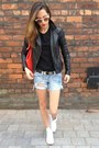 Black-biker-jacket-oasis-jacket-red-red-bag-oasis-bag