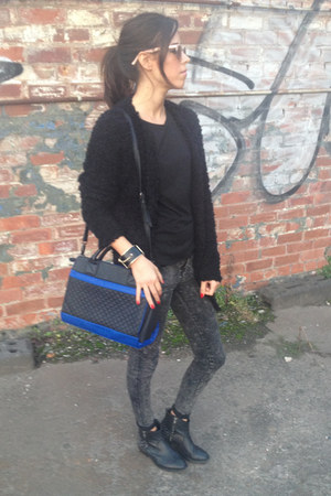 black warehouse bag - black warehouse cardigan