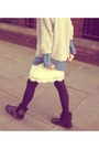 Black-aldo-boots-black-h-m-hat-blue-denim-shirt-h-m-shirt-white-h-m-skirt