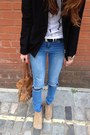 Black-black-blazer-american-apparel-blazer-light-brown-aldo-boots
