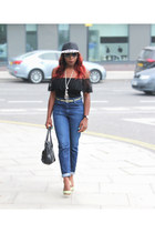 Topshop top - pumps Office shoes - mom jeans Topshop jeans