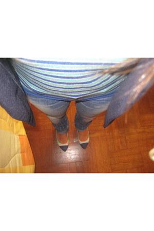 silvian heach jeans - pull&bear jacket - Primark flats - Bambolita top