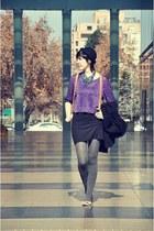H&M dress - H&M hat - Topshop sweater - Zara flats