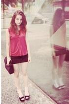 Topshop blouse - Aldo purse - Silvia Rosellini wedges