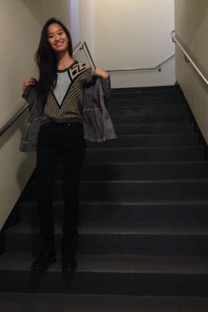 doc martens boots - Levis jeans - Armani Exchange jacket