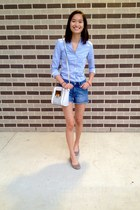 H&M shirt - Aldo bag - Gap shorts