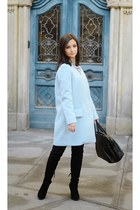 light blue Zara coat