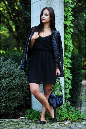 black New Yorker dress - black Zara jacket