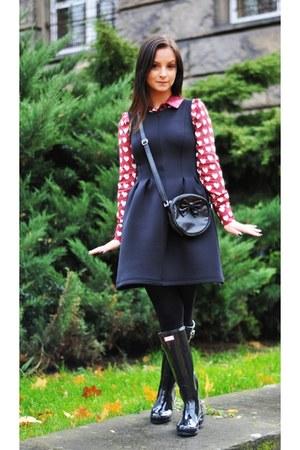 Hunter boots - pull&bear dress